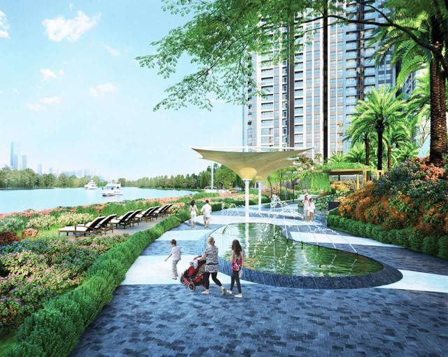 Thủ Thiêm Dragon trải dài trong khuôn ven ven sông 3ha thoáng đãng, các căn hộ đều sở hữu view sông toàn cảnh.