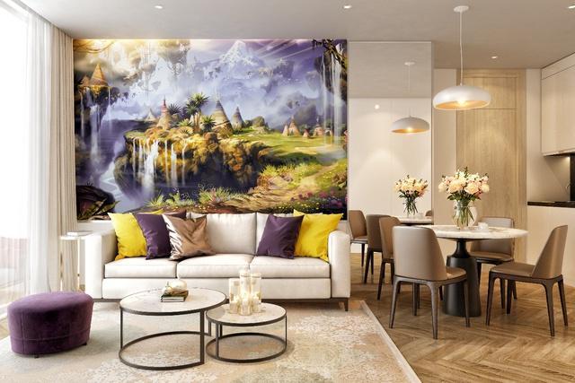 Thiết kế nội thất với sắc màu thần tiên tại Coco Wonderland Resort.
