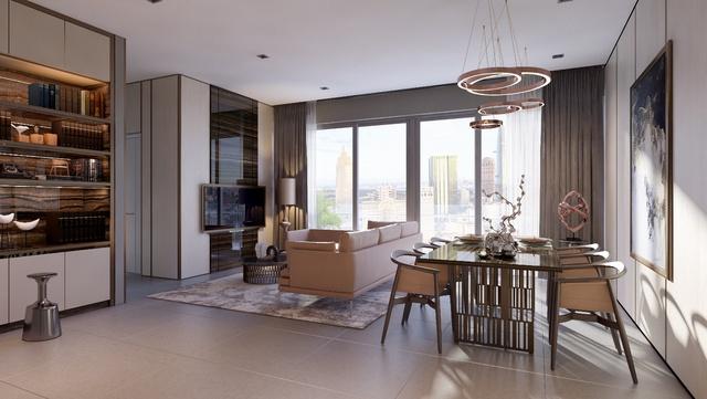 Thiết kế sang trọng và hoạt động trong căn hộ Millennium.