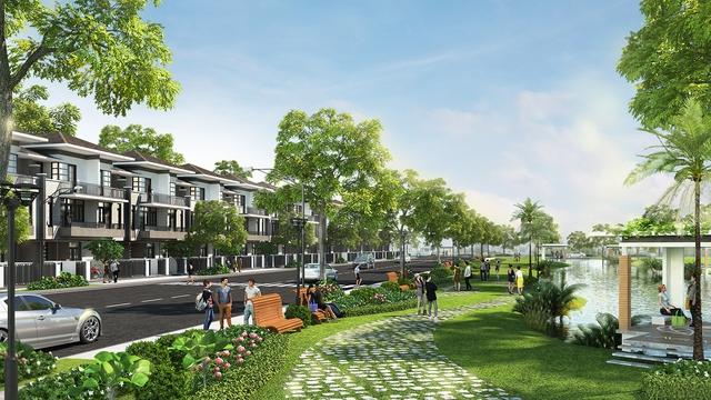 1ha công viên bờ sông, 4,6ha công viên hồ cảnh quan trải toàn khu - không gian sống chất lượng, tiện nghi, hiện đại được thiết kế và chăm chút đến từng chi tiết.