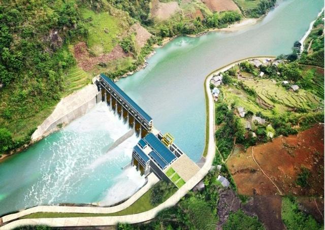 Phối cảnh dự án Thủy điện Mông Ân.