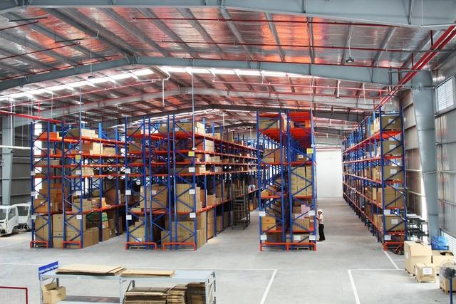Kho lưu trữ phụ tùng có sức chứa tăng lên gấp 4 lần.