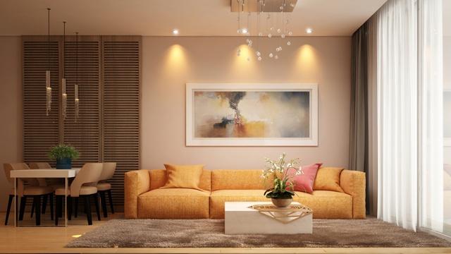 Phong cách thiết kế đơn giản nhưng ấm cúng, tận dụng tối đa gió và ánh sáng tự nhiên của căn hộ Calla Garden.