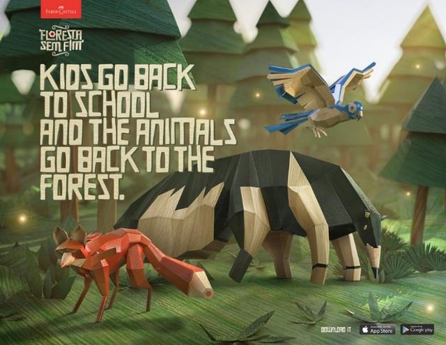 """Ứng dụng """"Khu rừng không ngừng phát triển"""" của Farber Castell trên mobile. (Nguồn hình: Internet)."""