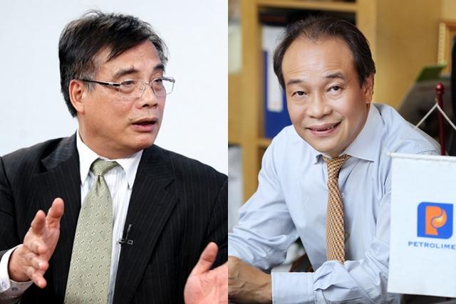 Ông Trần Đình Thiên - Viện trưởng Viện Kinh tế Việt Nam (Trái), Ông Bùi Ngọc Bảo - Chủ tịch HĐQT Petrolimex (Phải).