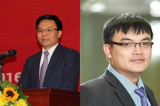Ông Lê Mạnh Hùng - Phó tổng giám đốc PVN (Trái), Ông Tống Minh Tuấn - Giám đốc tư vấn CTCK VCBS chi nhánh TP HCM (Phải).