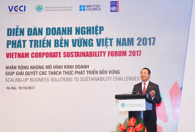Tại diễn đàn, ông Nguyễn Quang Vinh, Phó tổng thư ký VCCI kiêm Phó chủ tịch hội đồng DN vì sự PTBV Việt Nam đã nhấn mạnh PTBV là một yêu cầu cấp thiết.