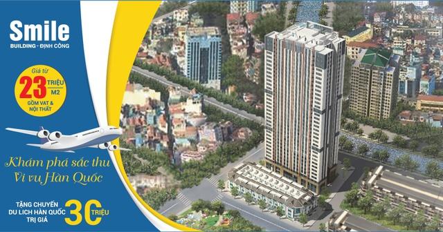 Tất cả khách hàng mua căn hộ trong tháng 10 sẽ được tặng chuyến du lịch Hàn Quốc trị giá 30 triệu đồng.