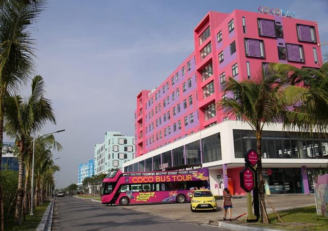 Một góc khu Boutique Hotel tại Cocobay đã vận hành.