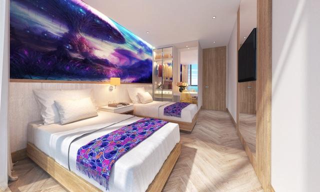 Phối cảnh nội thất Coco Wonderland Resort mới ra mắt tại Cocobay.