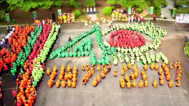Tạo hình OPC trong lễ kỉ niệm 40 năm ngày thành lập.