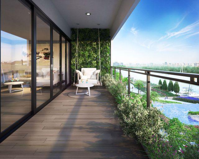 Tất cả căn hộ Thủ Thiêm đều có hướng nhìn sông với thiết kế thông thoáng, nội thất cao cấp châu Âu.