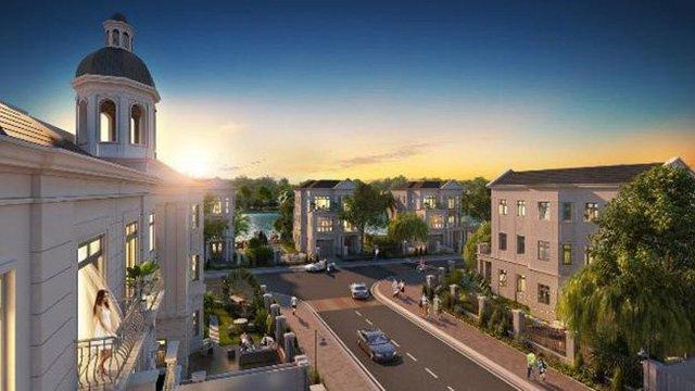 Một góc tiểu khu Nguyệt Quế thuộc phân khu mới Vinhomes Riverside – The Harmony.