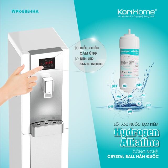 Sản phẩm máy lọc nước RO tích hợp nóng lạnh cao cấp của Korihome.