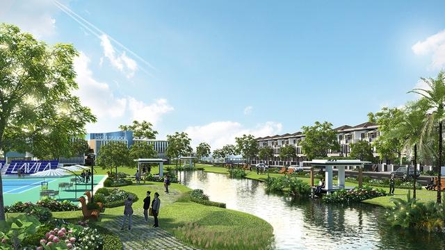 LAVILA có thiết kế cảnh quan đẹp, là một trong những ưu điểm nổi bật để khách hàng chọn mua dự án.