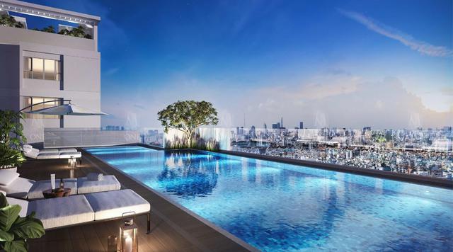 Hồ bơi trên không tại dự án M-One Gia Định.