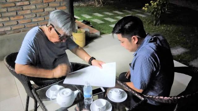 Thầy Quảng Đức hướng dẫn phong thủy cho TGĐ Nguyễn Anh Huy tại dự án Dragon Fairy 89 Trần Phú.