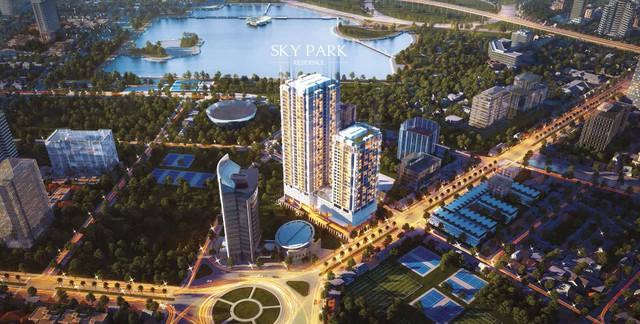 Phối cảnh tổng thể dự án Skypark Residence.