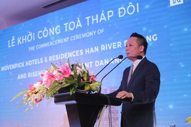 Ông Bùi Đức Long – Chủ tịch PAVNC Risemount, người sáng lập thương hiệu Risemount chào mừng quan khách.