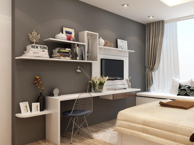 Bạn nên chọn ánh sáng vàng để tạo sự ấm áp và thoải mái cho không gian yên tĩnh của phòng ngủ.