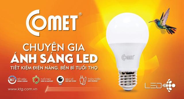 Comet LED là một trong những thương hiệu đèn LED được người tiêu dùng tin tưởng hiện nay.