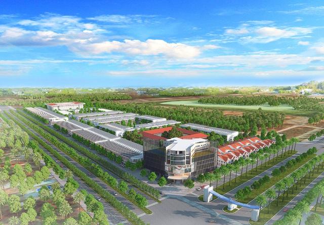 Nằm trên mặt tiền đường Vành đai 4 mở rộng 74 mét và nằm gần các khu công nghiệp là yếu tố khiến nhà đầu tư an tâm vào khả năng sinh lời tại dự án.