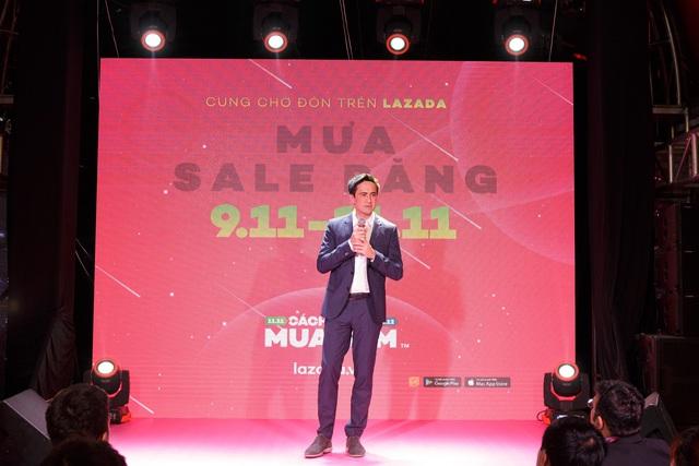 Ông Alexandre Dardy, CEO Lazada phát biểu tại họp báo.