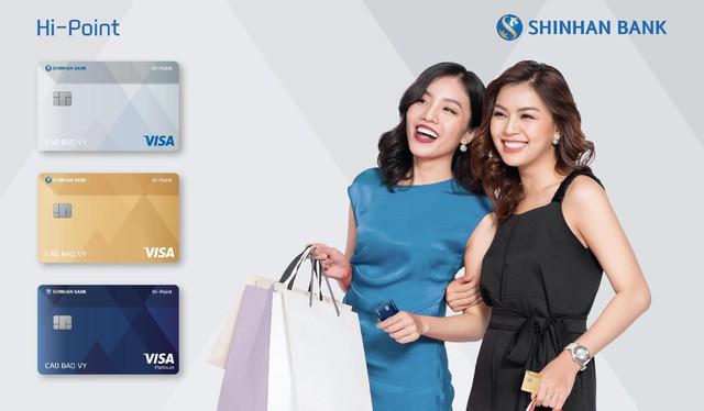 Với thẻ Visa Hi-point, bạn mua sắm càng nhiều, điểm tích lũy càng cao và cách quy đổi điểm rất linh hoạt.