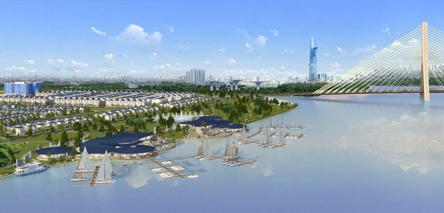 King Bay là 1 trong số ít 1 vài dự án có đầu tư bến du thuyền tiên tiến.