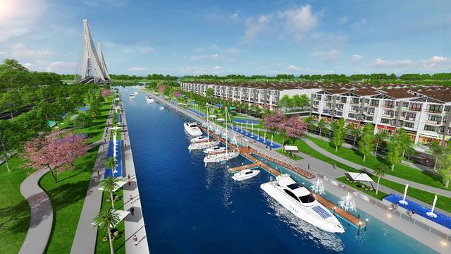 King Bay chỉ 1 vàih trọng điểm đô thị 30' các con phố thủy và chưa đến 50' các con phố bộ.