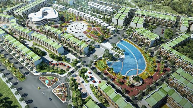 Dự án với 70% diện tích là cây xanh, đem lại không khí trong lành cho dân cư.