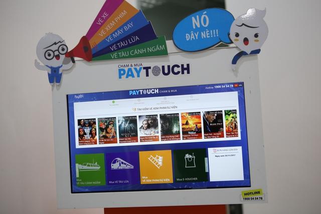 Khách hàng có thể mua mọi loại vé trên PayTouch.