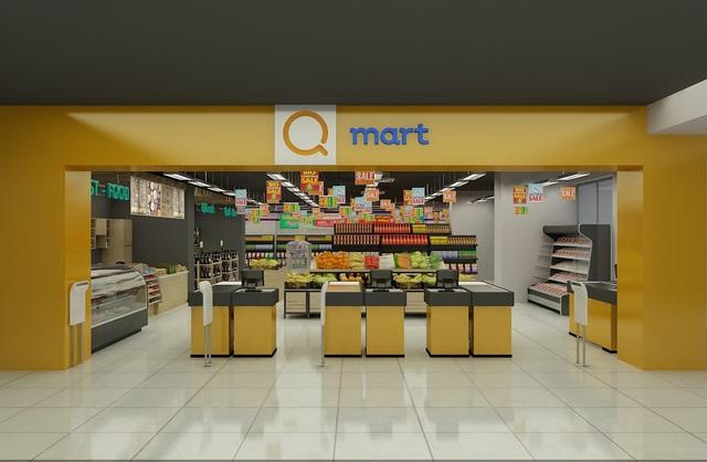 Siêu thị Qmart tại dự án T&T Riverview sắp sửa ra mắt để phục vụ cư dân.