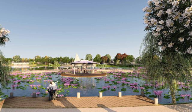 Các căn biệt thự An Khang Villa có tầm nhìn hướng ra Công viên Thiên văn học ngoài trời đầu tiên tại Đông Nam Á.