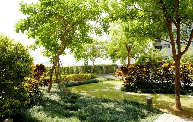 Hệ thống cây xanh: vườn treo, đường dạo, tường xanh… tạo nên không gian trong lành, yên tĩnh tại Mulberry Lane.