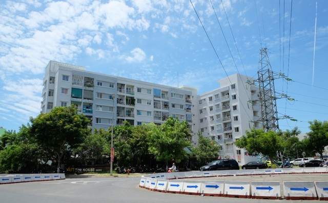 Hình ảnh thực tế khu chung cư cuối tuyến Bạch Đằng Đông Đà Nẵng do Vicoland là chủ đầu tư.
