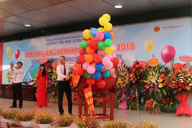 Đại diện Tập đoàn Nam Cường, Ông Phạm Hồng Hà – Phó Tổng Giám đốc đã dự Lễ Khai giảng năm học mới 2017 – 2018 và Lễ Khánh thành trường Tiểu học Lê Quý Đôn.