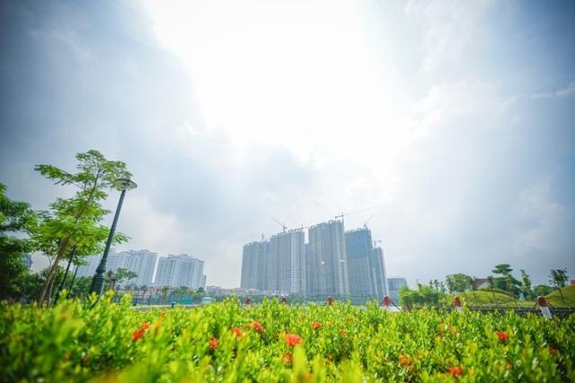 Cả 8 tòa căn hộ An Bình City đều đã cất nóc.