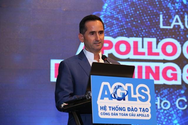 Ông Khalid Muhmood khẳng định AGLS là một trong những mục tiêu quan trọng nằm trong chiến lược đầu tư dài hạn của Apollo English.