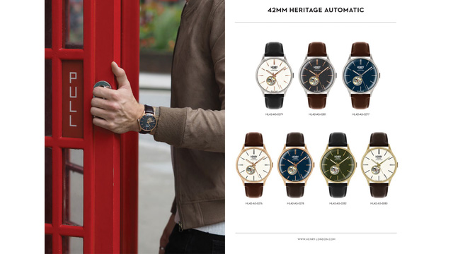 Bộ Sưu tập đồng hồ cơ Heritage Automatic.