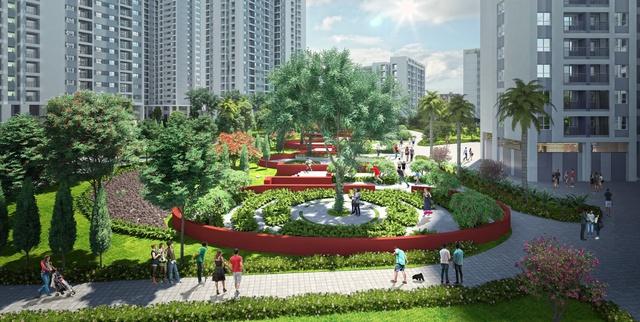 Công viên 6 giác quan ngay trung tâm dự án sẽ là trải nghiệm mới lạ và khác biệt cho cư dân.