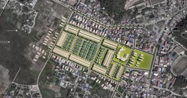 Phối cảnh dự án tại trung tâm thị trấn Núi Đèo, Thủy Nguyên.