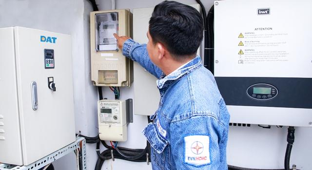 EVN triển khai lắp đặt miễn phí đồng hồ hai chiều cho các dự án điện mặt trời.