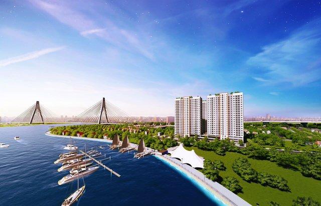 Samsora Riverside được bao quanh bởi sông Đồng Nai mang đến khí hậu trong lành.