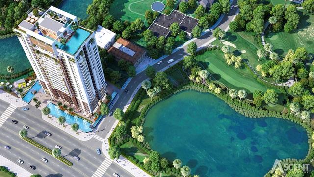 Dự án nằm trên hai mặt tiền đường, sát cạnh 02 hồ tự nhiên lớn nhất quận 7.