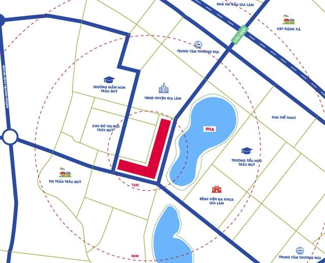 Hình ảnh quy hoạch khu đất của Hải Phát.