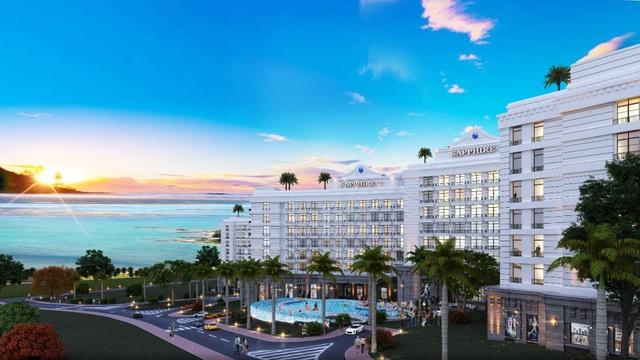 Phối cảnh căn hộ Sapphire nằm trong giai đoạn 2 thuộc dự án Aloha Beach Village.