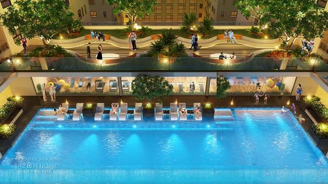 Hồ bơi Tropics Pools xanh mát sẽ mang đến cảm giác thư thái, nhẹ nhàng cho các thành viên trong gia đình.