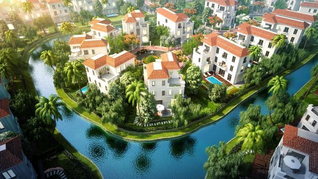 Hệ thống kênh đào sinh thái tại quần thể biệt thự nghỉ dưỡng BRG Coastal City.