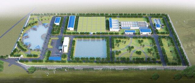 Nhà máy nước sạch DNP Bắc Giang- một trong những dự án trọng điểm của DNP Water đang được triển khai xây dựng, dự kiến đưa vào hoạt động cuối năm 2018.